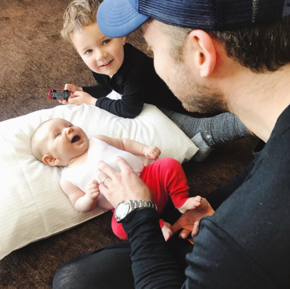 Zoe admits parenting two is so much harder than parenting one. Photo: Instagram