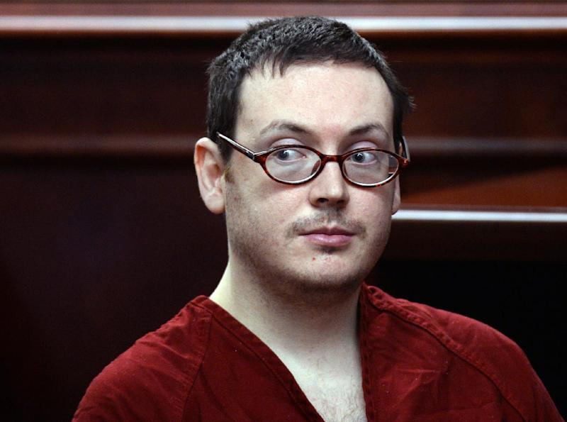 James Holmes appears in court for the sentencing phase in his trial, Monday, Aug. 24, 2015, at Arapahoe County District Court in Centennial, Colo. Victims and their families were given the opportunity to speak about the shooting and its effects on their lives. Holmes was convicted Aug. 7 of murdering 12 people when he opened fire on a crowded movie theater in 2012. (RJ Sangosti/The Denver Post via AP, Pool)