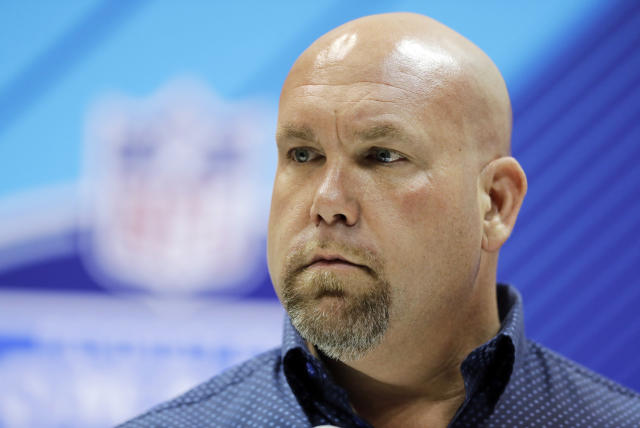 "FILE - In this Feb. 28, 2018, file photo, Arizona Cardinals general manager Steve Keim speaks during a press conference at the NFL football scouting combine 2018, in Indianapolis. Keim is apologizing for what he calls ""incredibly poor judgment and inexcusable actions"" that resulted in a Fourth of July DUI arrest in a Phoenix suburb. The Cardinals said Saturday, July 7, 2018, the team was gathering information and would handle the matter ""appropriately and in accordance with all league policies as well as within the legal system."" (AP Photo/Darron Cummings, File)"