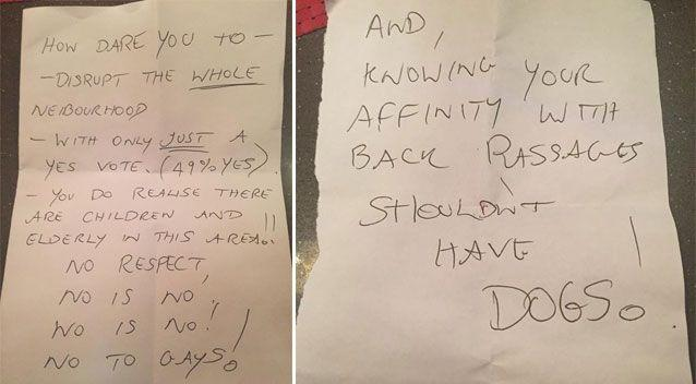 They believe the letters are from one unknown culprit and believe he might not be from the local area. Source: Facebook