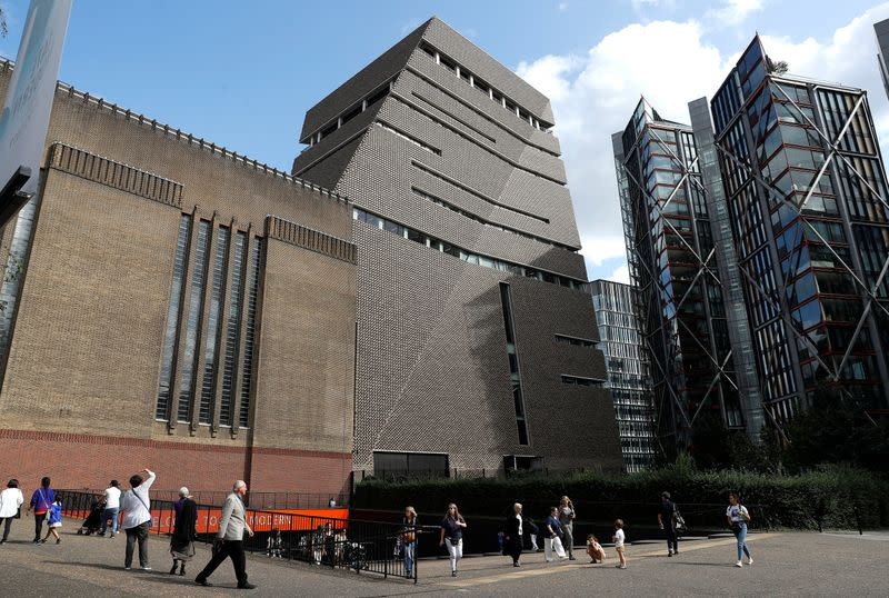 The Tate Modern, including the 10th-floor viewing platform from where a six-year-old child was reportedly thrown, is seen in London