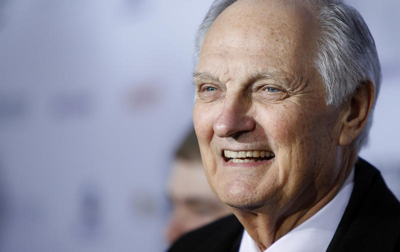 Actor Alan Alda is seen at the International Emmy Awards in New York, in 2012. (Carlo Allegri / Reuters)