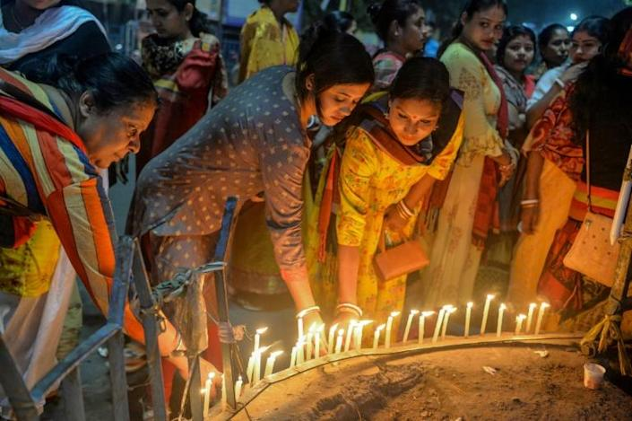 The gang-rape and murder by four men of a female veterinary doctor has sparked protests across India (AFP Photo/DIPTENDU DUTTA)