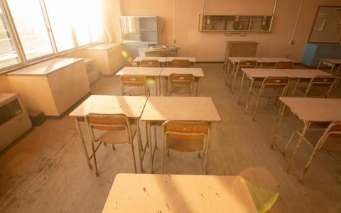 One of the many classrooms which lay undisturbed since the disaster - Credit: Simon Townsley