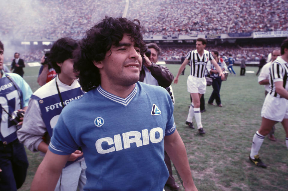 HBO's Diego Maradona documentary is a great way to entertain yourself during self-isolation. (Photo by Stefano Montesi - Corbis/Corbis via Getty Images)