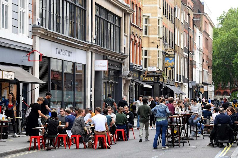 Soho has long been a tourist hotspot, but its businesses have struggled to stay afloat during the pandemic (AFP via Getty Images)