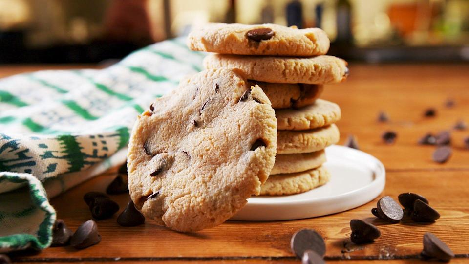 """<p>The holiday season is the toughest time of year to be on a diet...or is it? From chocolate chip to pecan sandies, no one at your cookie swap will believe these easy Christmas cookies are actually keto-friendly! Looking for more keto holiday recipes? Check out these <a href=""""https://www.delish.com/holiday-recipes/christmas/g29393503/keto-christmas-dinner/"""" rel=""""nofollow noopener"""" target=""""_blank"""" data-ylk=""""slk:low-carb holiday dinners"""" class=""""link rapid-noclick-resp"""">low-carb holiday dinners</a>! </p>"""