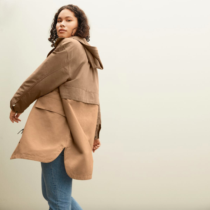The ReNew Anorak in Taupe. Image via Everlane.