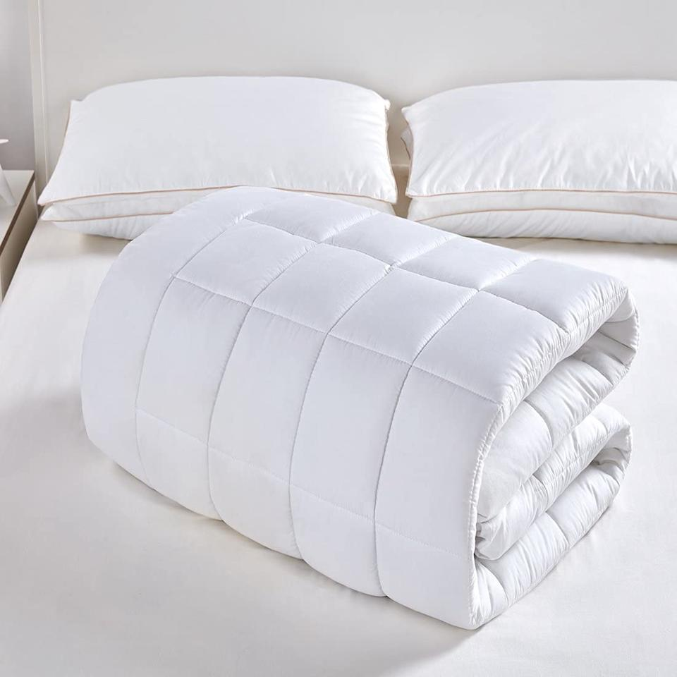 Cotton on the outside, plush fill on the inside. (Photo: Amazon)