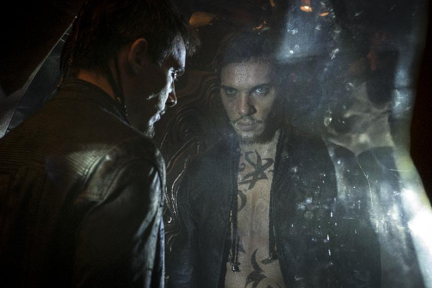 """This film image released by Screen Gems shows Jonathan Rhys Meyers as Valentine in a scene from """"The Mortal Instruments: City of Bones."""" (AP Photo/Screen Gems, Sony Pictures, Rafy)"""
