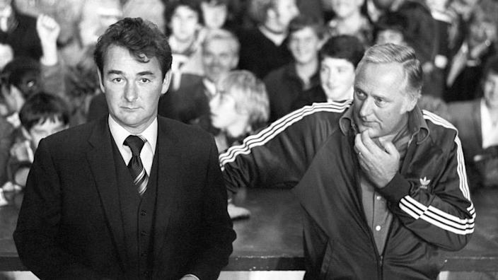 Brian Clough and assistant Peter Taylor in 1978