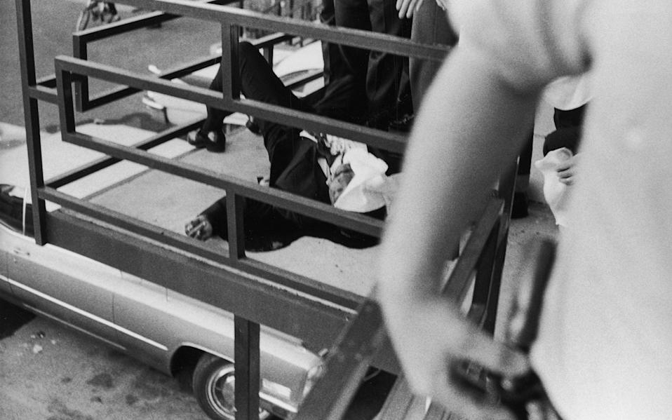 The body of Martin Luther King following his assassination in Memphis, 1968 - Getty