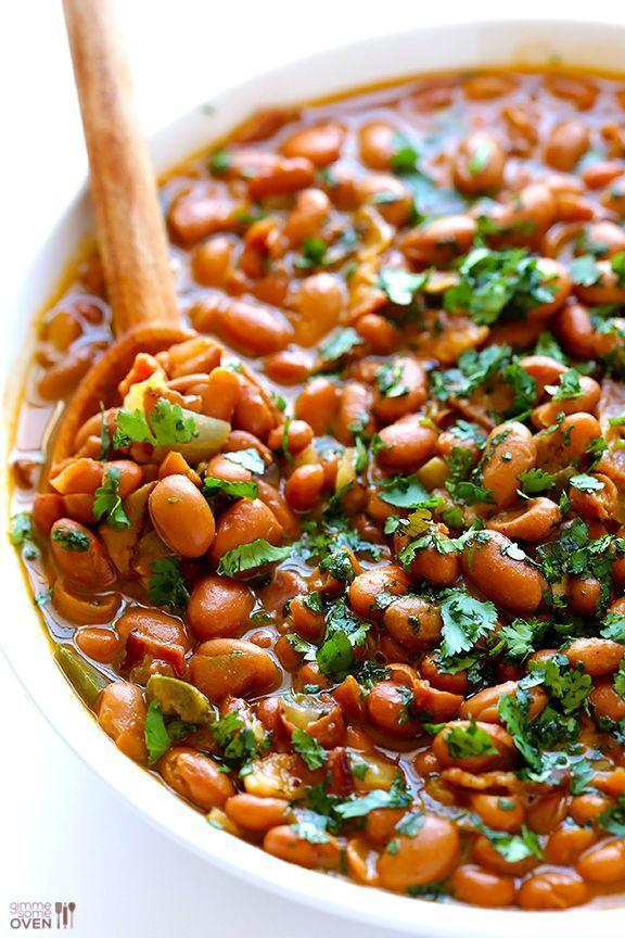 """<p>If you don't speak Spanish, allow us to translate: <em>drunken beans</em>.</p><p>Get the recipe from <a href=""""http://www.gimmesomeoven.com/drunken-beans-recipe-frijoles-borrachos/#_a5y_p=1588697"""" rel=""""nofollow noopener"""" target=""""_blank"""" data-ylk=""""slk:Gimme Some Oven"""" class=""""link rapid-noclick-resp"""">Gimme Some Oven</a>.</p>"""