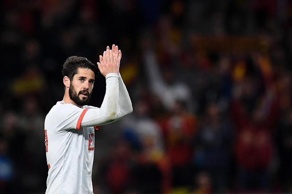 Isco was the first player in a Spain shirt to score a hat-trick since 2013 (AFP Photo/GABRIEL BOUYS )