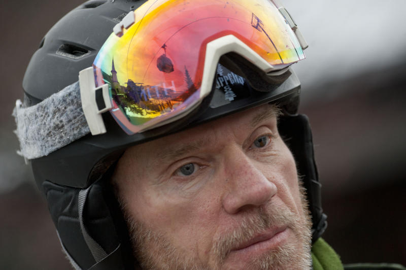 Skier Dolph Hoch of Kellogg helped in the recovery at Silver Mountain after an avalanche killed multiple people and injured others on Tuesday, Jan. 7, 2020, on Kellogg, Idaho. (Kathy Plonka/The Spokesman-Review via AP)