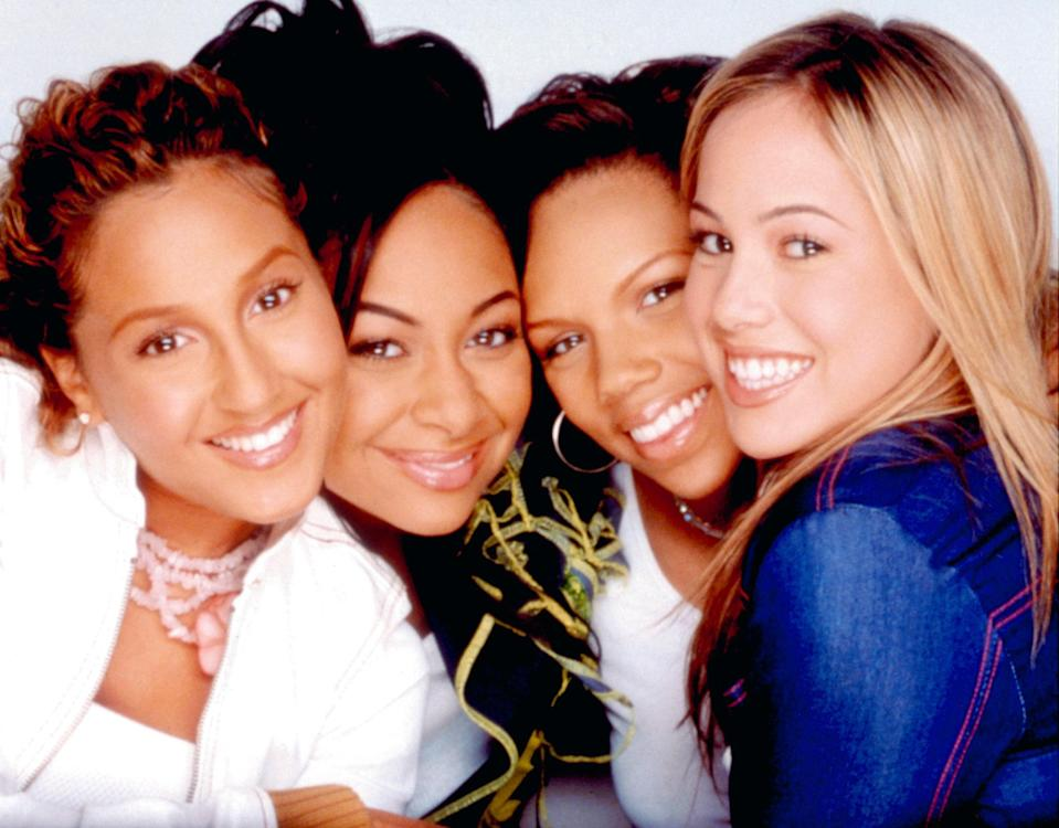 "<h1 class=""title"">THE CHEETAH GIRLS, Sabrina Bryan, Raven-Symone, Kiely Williams, Adrienne Bailon, 2003. (c) Disney Ch</h1> <cite class=""credit""> Disney Channel/ Courtesy: Everett Collection</cite>"