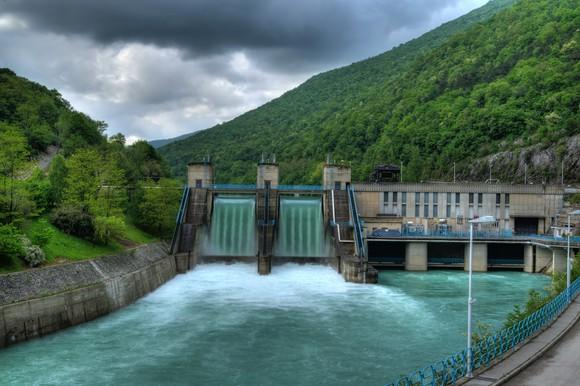 A hydro electric power plant.