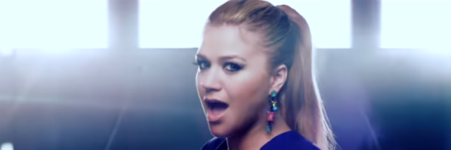 "Kelly Clarkson screenshot from ""People Like Us"" music video."