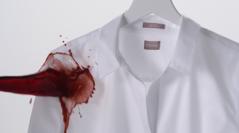 48a1700b892c63 Chico s No Stain white shirt repels red wine and coffee