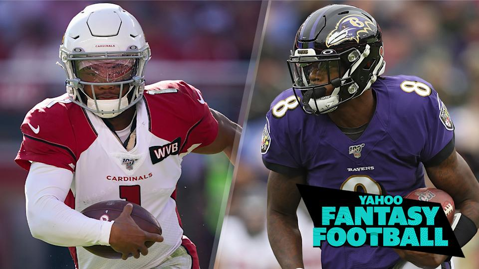Lamar Jackson has established himself as the most exciting QB in the league and Kyler Murray's rookie season performance is showing that he's not far behind. (Photo credits L to R: Thearon W. Henderson/Getty Images; Patrick Smith/Getty Images)