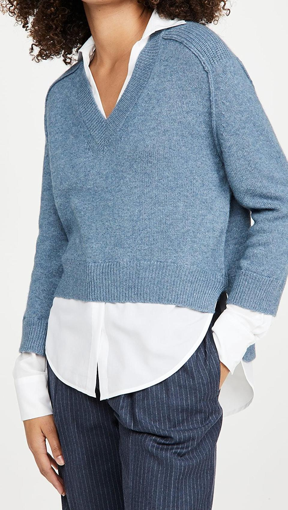 <p>This <span>Brochu Walker Alum V Neck Layered Looker Sweater</span> ($378) screams businesswoman special.</p>