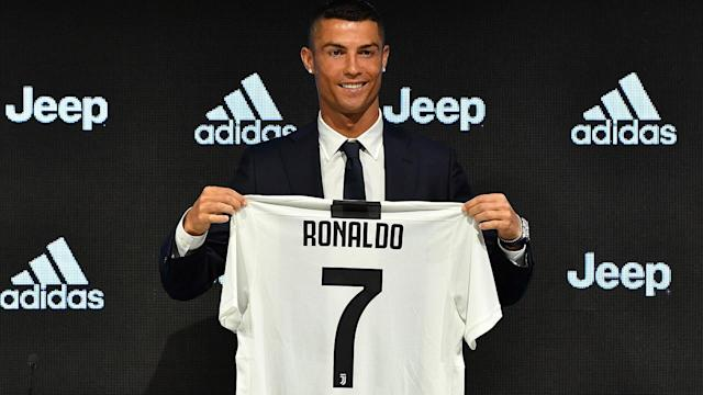 Juventus unveiled Cristiano Ronaldo at a news conference earlier this week. (Getty)