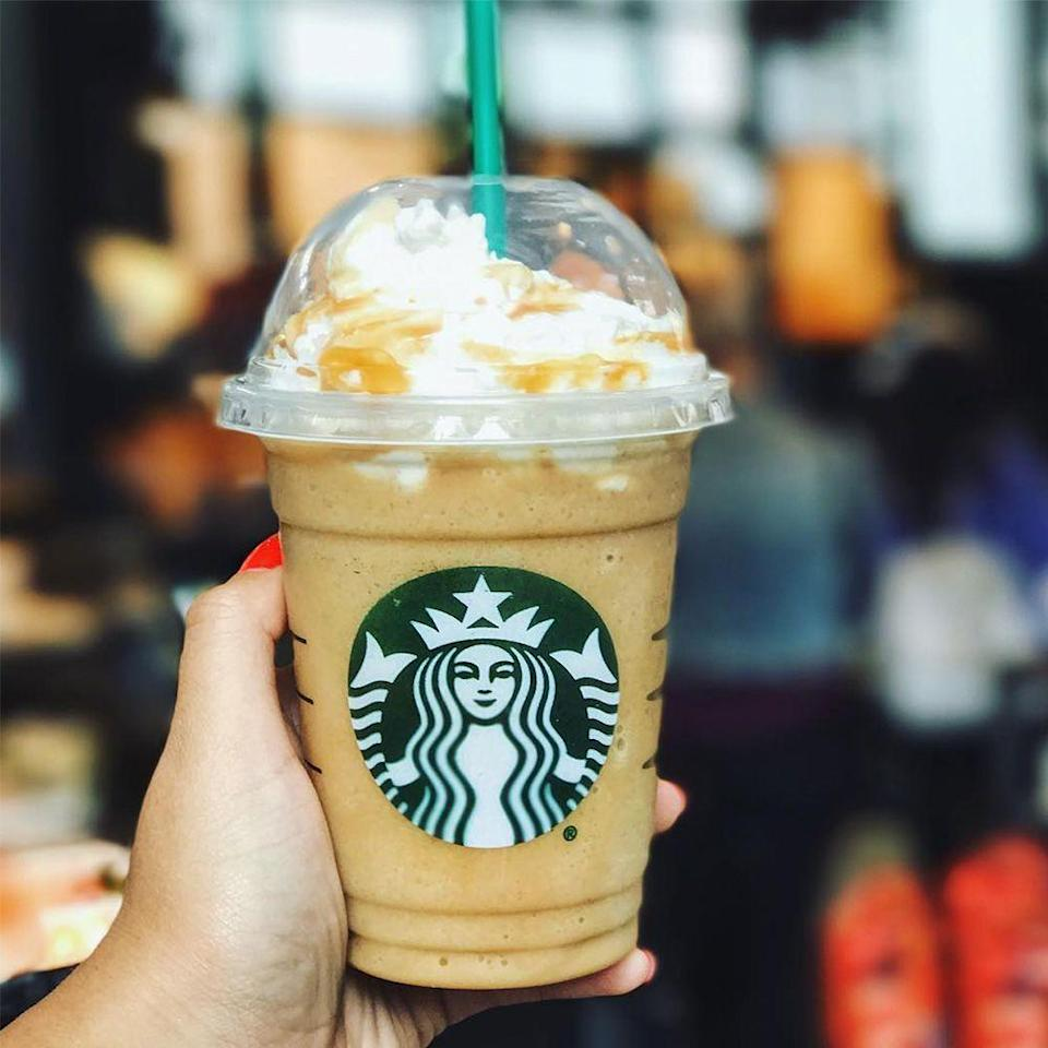 <p>This almond-milk-based Frappuccino is blended with cinnamon dolce syrup, coffee, and ice. Whipped cream, caramel, cinnamon, and sugar sprinkles complete the creamy drink!</p>