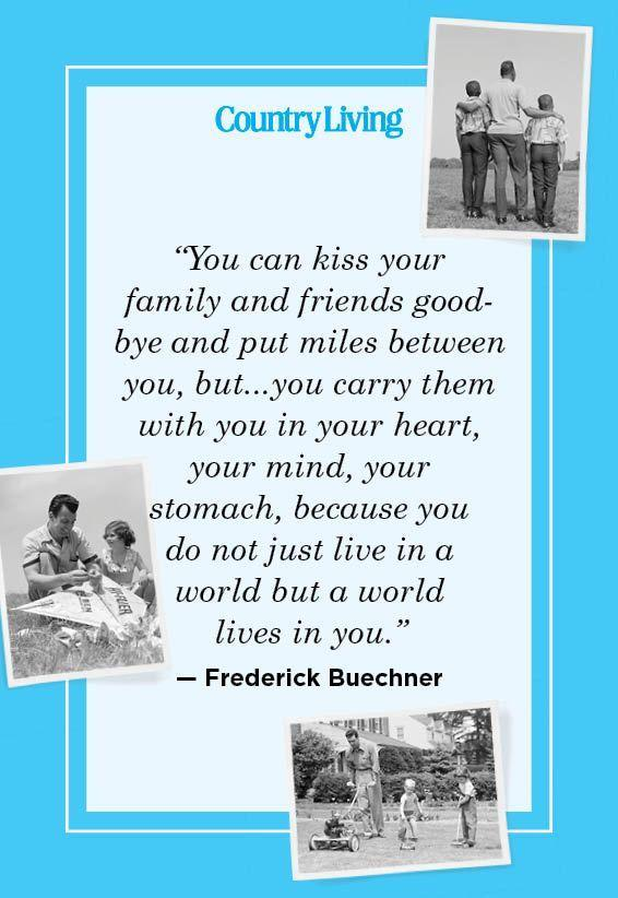 """<p>""""You can kiss your family and friends goodbye and put miles between you, but...you carry them with you in your heart, your mind, your stomach, because you do not just live in a world but a world lives in you.""""<br></p>"""
