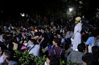 A group of young intellectuals and artists demonstrated at Cuba's culture ministry in November 2020 -- a rare public protest that started with an online campaign