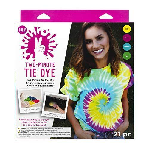 """<p><strong>Tulip One-Step Tie-Dye Kit</strong></p><p>amazon.com</p><p><strong>$12.54</strong></p><p><a href=""""https://www.amazon.com/dp/B07ZB2PGG3?tag=syn-yahoo-20&ascsubtag=%5Bartid%7C10055.g.29551016%5Bsrc%7Cyahoo-us"""" rel=""""nofollow noopener"""" target=""""_blank"""" data-ylk=""""slk:Shop Now"""" class=""""link rapid-noclick-resp"""">Shop Now</a></p><p>Twelve-year-olds are many things, but patient is not one of them. This <strong>tie-dye kit works in the microwave</strong>, so kids can have creations in under 10 minutes. It requires <a href=""""https://www.amazon.com/Hanes-Authentic-TAGLESS-Cotton-T-Shirt_White_S/dp/B06ZXRXKCF?tag=syn-yahoo-20&ascsubtag=%5Bartid%7C10055.g.29551016%5Bsrc%7Cyahoo-us"""" rel=""""nofollow noopener"""" target=""""_blank"""" data-ylk=""""slk:100% cotton materials"""" class=""""link rapid-noclick-resp"""">100% cotton materials</a>, but the materials do not need to be soaked in soda ash to work. </p>"""