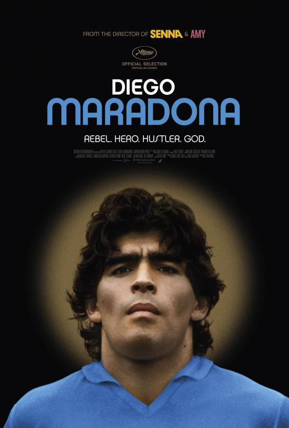 The film poster for the Diego Maradona movie