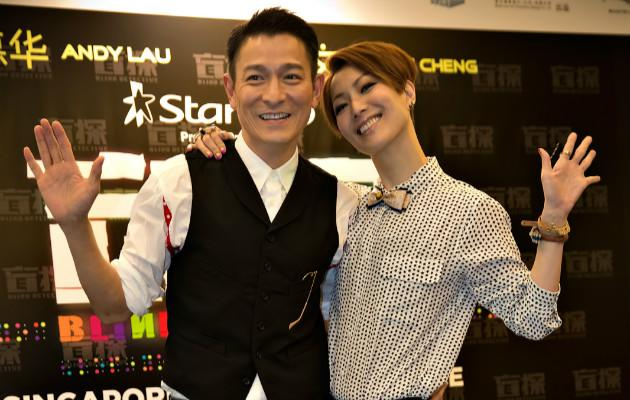 HK stars Andy Lau and Sammi Cheng sizzle in S'pore