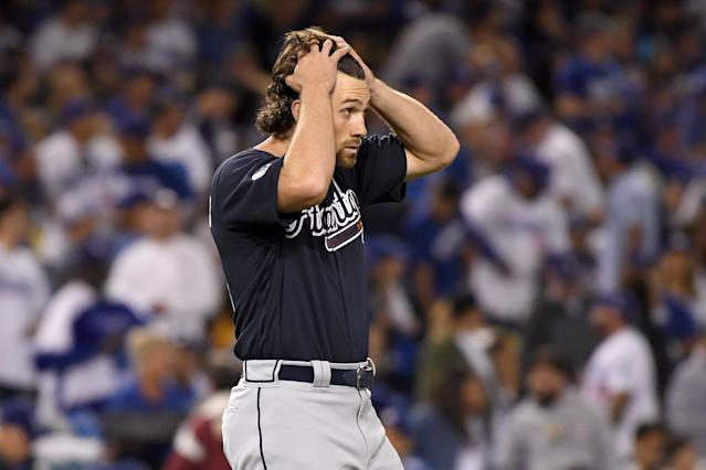 The Atlanta Braves played their first postseason game in five years and it showed on Thursday night. (Getty Images)