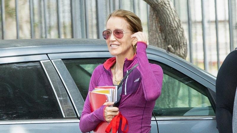 Felicity Huffman Cracks a Smile During Outing After Prison Sentencing