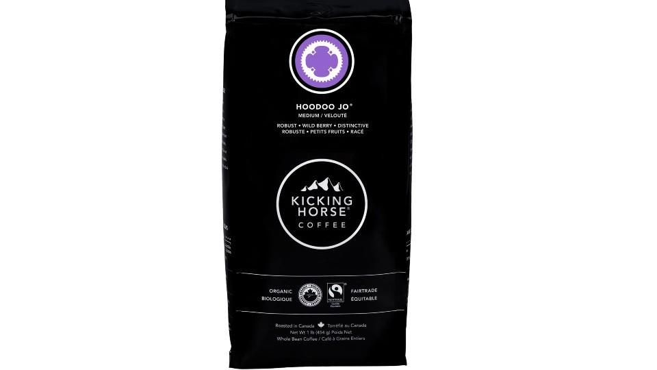 Kicking Horse Coffee, Hoodoo Jo, Medium Roast. (Image via Amazon)