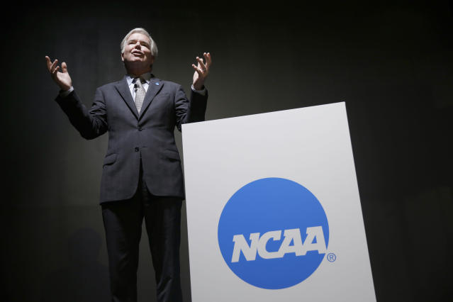 NCAA president Mark Emmert did not show the same enthusiasm for the First Team program as his predecessor did. (AP)