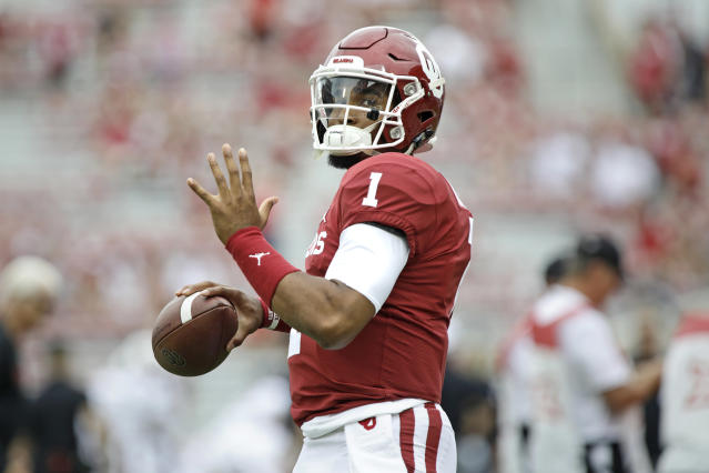 Oklahoma QB Jalen Hurts just might be the perfect New England Patriot. (Getty Images)
