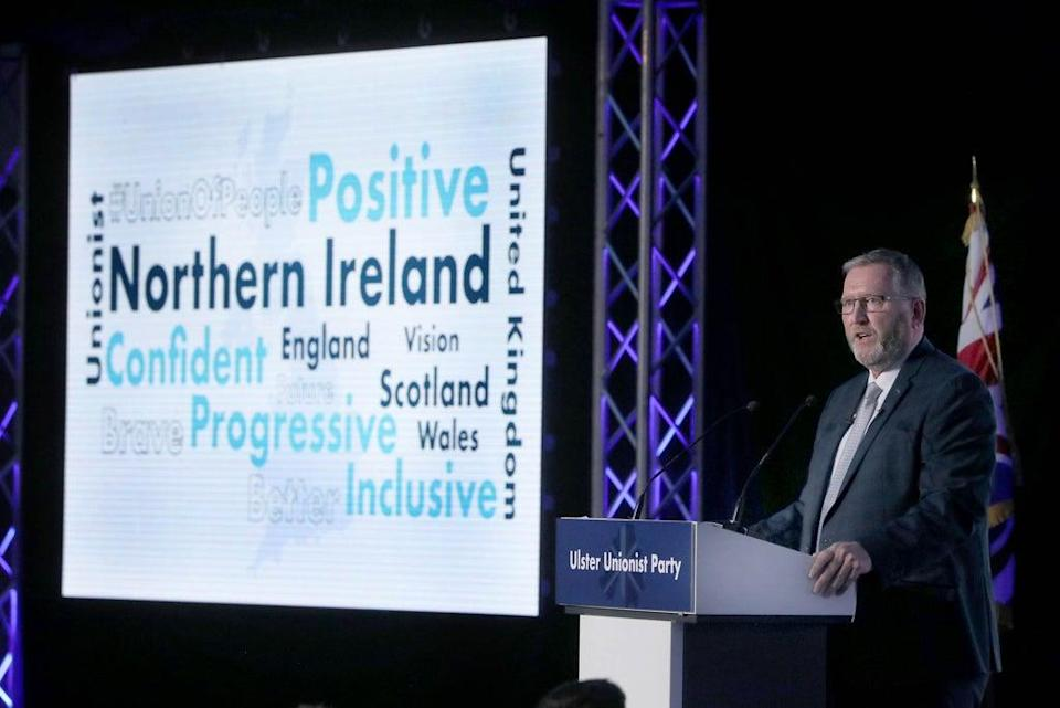 UUP Party leader Doug Beattie speaking at the party conference in Belfast (Brian Lawless/PA) (PA Wire)