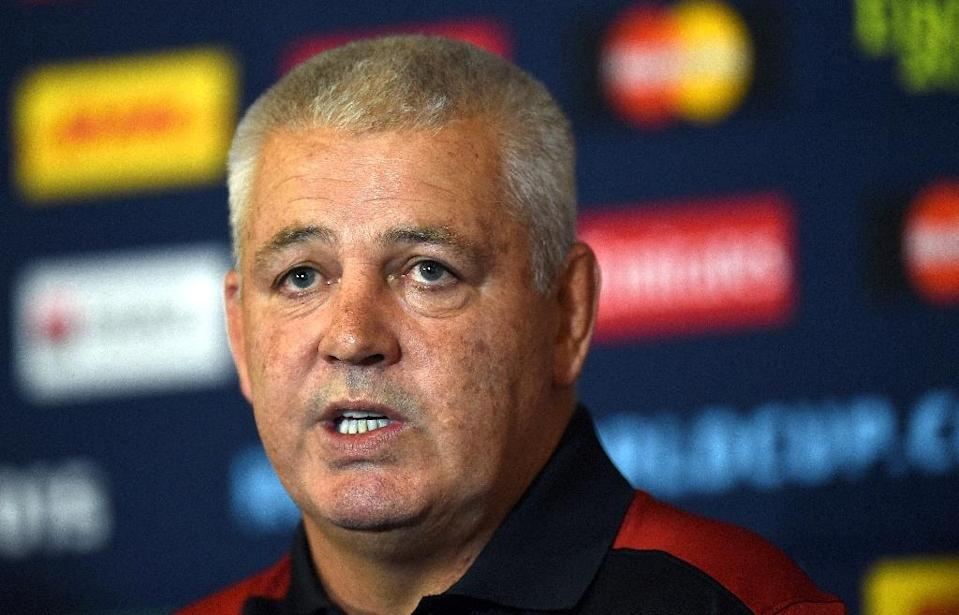 Wales rugby coach Warren Gatland speaks at a press conference in Hensol, south Wales, on September 15, 2015 (AFP Photo/Loic Venance)
