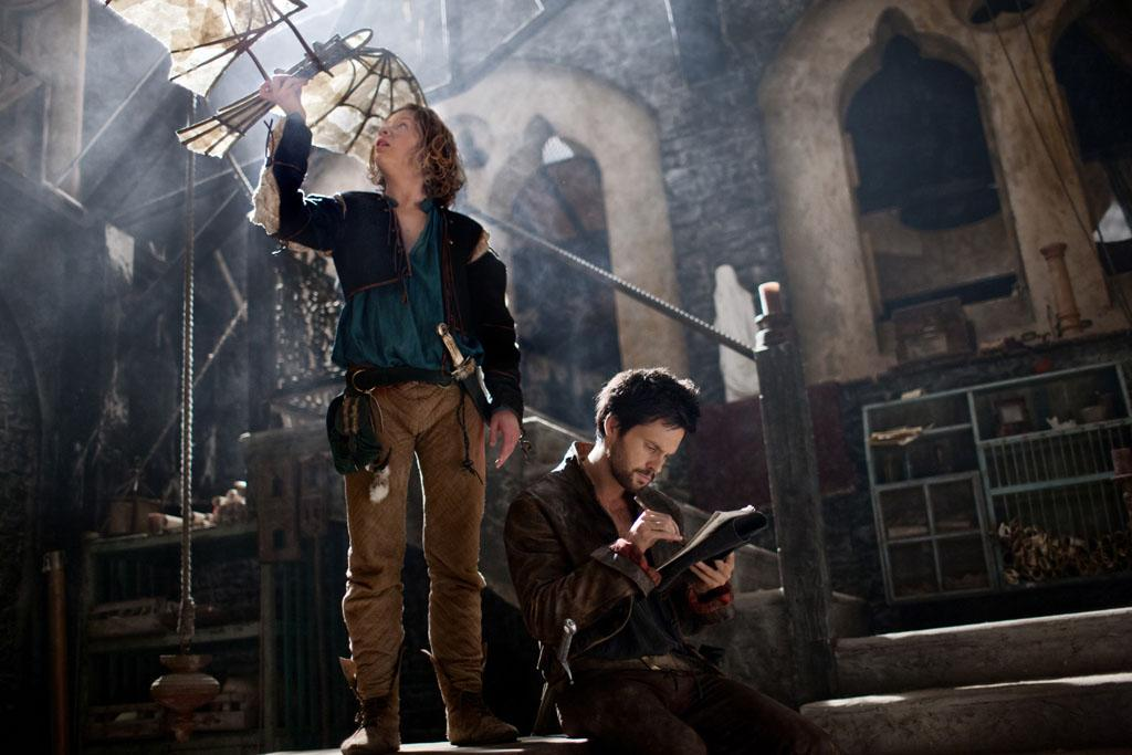 "Leonardo Da Vinci (Tom Riley) and Nico Machiavelli (Eros Vlahos) in ""Da Vinci's Demons"" on Starz."