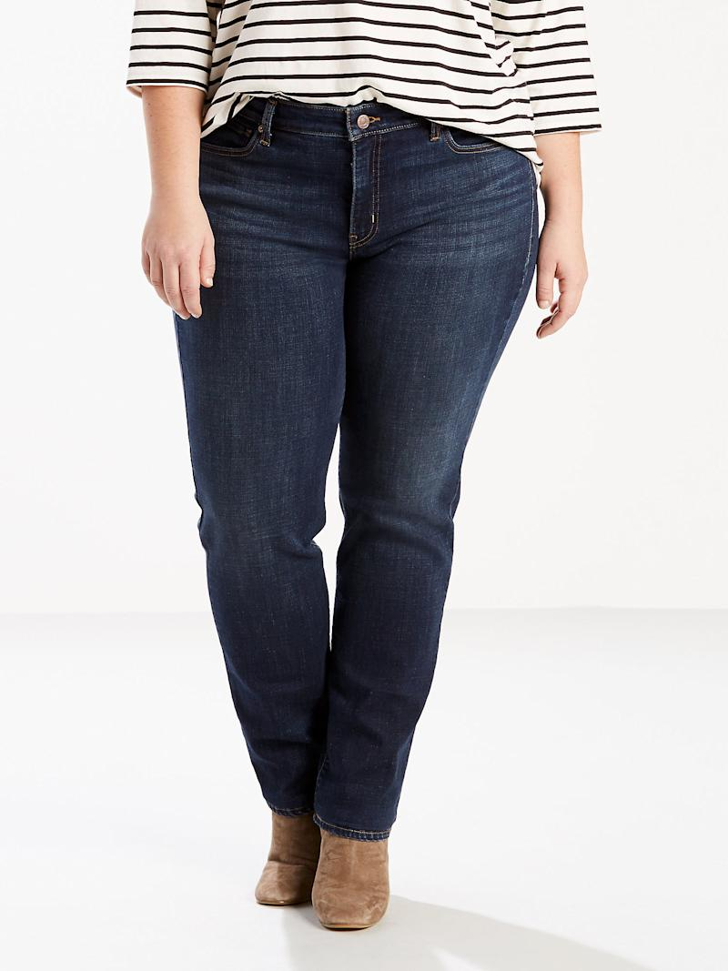 Levi's Women's Plus Size Classic Straight Leg Jeans. (Photo: Walmart)