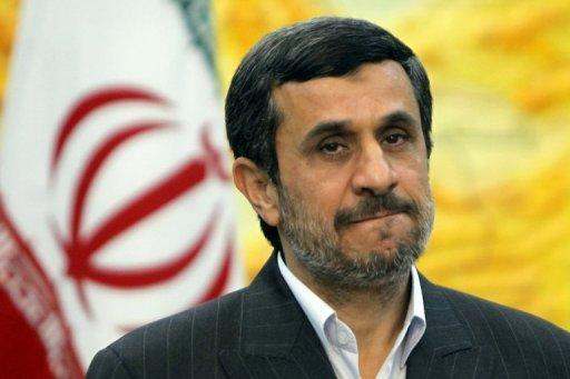 Iranian President Mahmoud Ahmadinejad before the start of a meeting in Tehran, on December 18, 2011