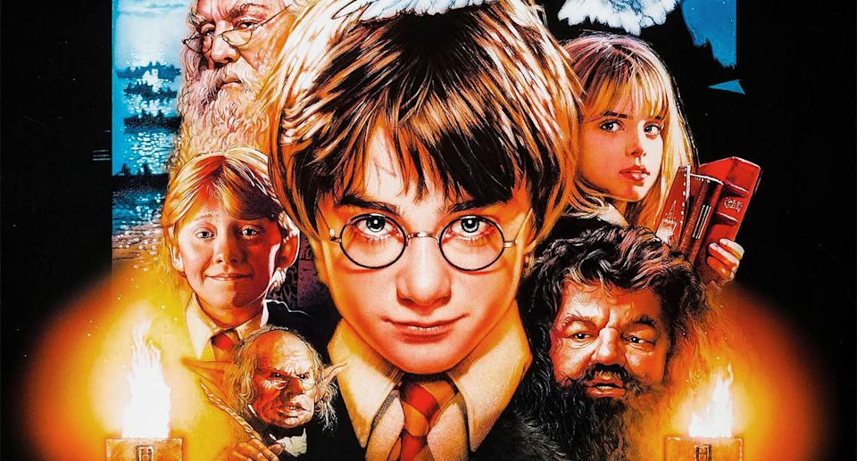 Detail from Drew Struzan's poster for Harry Potter and the Philosopher's Stone. (Warner Bros.)