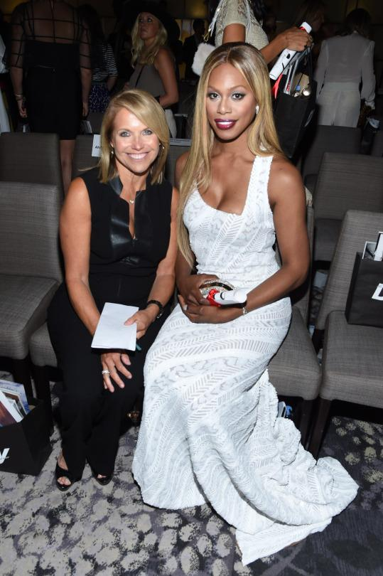 """<p>But the arguably most powerful moment of the night came from Laverne Cox, who was on hand in a shimmering, body-hugging Marc Bouwer gown to accept Maybelline New York's """"Make It Happen"""" award. The honor was presented by <i>Yahoo</i>'s own Katie Couric, who credited Cox with educating her and others about the proper ways to address trans issues following a highly publicized gaffe Couric made on her talk show in early 2014. <br /></p><p>Explained Couric, """"I asked a question about my guest's anatomy, which I later learned was highly offensive to the transgender community. […] Luckily, on that very same program, Laverne was on hand to explain with patience and compassion and no judgement. […] She has singlehandedly catapulted this issue out of the shadows and into living rooms all across the country.""""</p><p>In fact, it was Cox who requested that Couric give her the award. """"The reason I wanted Katie Couric to be here is because, the moment that we had on her talk show over a year and a half ago changed the trajectory of my life and my career,"""" the <i>Orange Is the New Black</i> actress revealed. """"I believe it changed the conversation about who transgender people are.""""</p><p>Cox went on to thank her mother, Gloria, for enrolling her in third grade dance classes """"when the entire community suggested that dance classes would turn me gay. They did not!,"""" as well as sharing the truly intimate, personal meaning behind the now-viral social media hashtag she began earlier this year, #TransIsBeautiful. </p><p>""""Years ago, in the beginning of my transition, I would walk out into the street, and I would hear people yell, 'That's a man!' And I would be devastated, because here I was—I had finally extended my womanhood to the world,"""" she recalled. </p><p>""""It took my years to fully materialize that someone could look at me and tell that I was transgender—that's not normally OK. But all of the things that make me uniquely and beautifully trans—my big hands, my big feet, my wide should"""