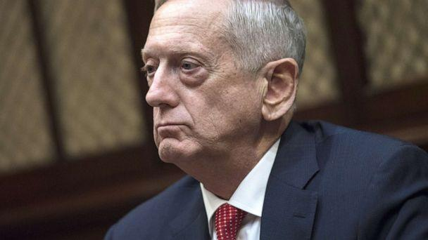 PHOTO: Jim Mattis, Secretary of Defense, listens during a meeting with President Donald Trump in the Roosevelt Room of the White House, Nov. 28, 2017. (Kevin Dietsch/Pool via Bloomberg via Getty Images)