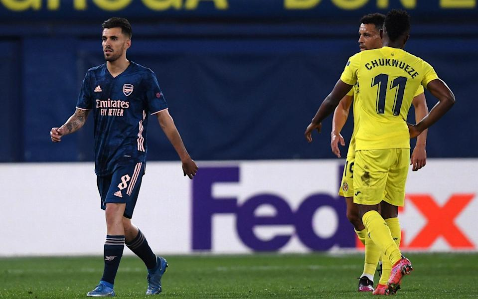 Dani Ceballos red card encapsulates an erratic Arsenal career as Mikel Arteta's hesitancy proves costly - GETTY IMAGES