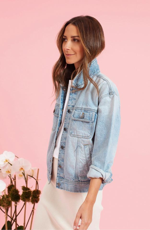 """<p>We can't believe the discount on this classic <a href=""""https://www.popsugar.com/buy/Something-Navy-Denim-Jacket-460688?p_name=Something%20Navy%20Denim%20Jacket&retailer=shop.nordstrom.com&pid=460688&price=49&evar1=fab%3Aus&evar9=45974897&evar98=https%3A%2F%2Fwww.popsugar.com%2Fphoto-gallery%2F45974897%2Fimage%2F46543141%2FSomething-Navy-Denim-Jacket&list1=nordstrom%2Cfall%20fashion%2Csale%2Csale%20shopping&prop13=api&pdata=1"""" rel=""""nofollow"""" data-shoppable-link=""""1"""" target=""""_blank"""" class=""""ga-track"""" data-ga-category=""""Related"""" data-ga-label=""""https://shop.nordstrom.com/s/something-navy-denim-jacket-nordstrom-exclusive/5097626?origin=category-personalizedsort&amp;breadcrumb=Home%2FWomen%2FClothing&amp;color=denim%20light"""" data-ga-action=""""In-Line Links"""">Something Navy Denim Jacket </a> ($49, originally $99).</p>"""