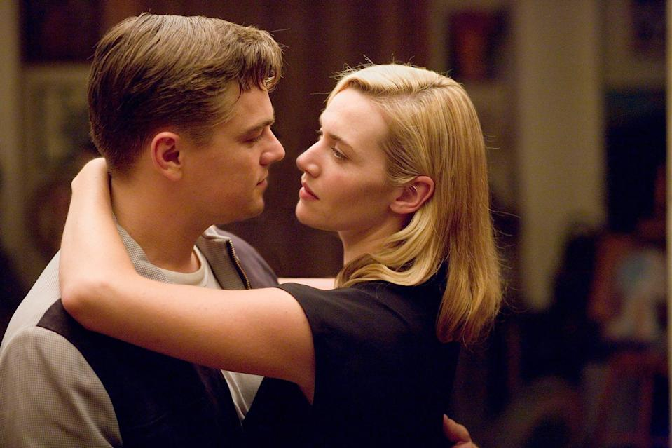 """<p>More than a decade after going down as one of film's great love stories, <i>Titanic</i> stars <a href=""""https://ew.com/tag/kate-winslet/"""" rel=""""nofollow noopener"""" target=""""_blank"""" data-ylk=""""slk:Kate Winslet"""" class=""""link rapid-noclick-resp"""">Kate Winslet</a> and Leonardo DiCaprio reunite as April and Frank Wheeler, a 1950s couple finding themselves living unhappily ever after. The drama from director (and Winslet's then husband) <a href=""""https://ew.com/tag/sam-mendes/"""" rel=""""nofollow noopener"""" target=""""_blank"""" data-ylk=""""slk:Sam Mendes"""" class=""""link rapid-noclick-resp"""">Sam Mendes</a> is the definition of an actor's showcase for DiCaprio, Winslet, and <a href=""""https://ew.com/tag/michael-shannon/"""" rel=""""nofollow noopener"""" target=""""_blank"""" data-ylk=""""slk:Michael Shannon"""" class=""""link rapid-noclick-resp"""">Michael Shannon</a>, with crying, screaming, and arguments galore. And yet, as good as those three are, only Shannon earned an Oscar nom, with DiCaprio facing a loaded Best Actor field and Winslet instead winning for her role in <a href=""""https://ew.com/creative-work/the-reader/"""" rel=""""nofollow noopener"""" target=""""_blank"""" data-ylk=""""slk:The Reader"""" class=""""link rapid-noclick-resp""""><i>The Reader</i></a>.</p> <p><b>Related: </b><a href=""""https://ew.com/article/2008/12/11/kate-and-leo-reunion-qa/"""" rel=""""nofollow noopener"""" target=""""_blank"""" data-ylk=""""slk:Look back on Kate Winslet and Leonardo DiCaprio's exclusive EW reunion"""" class=""""link rapid-noclick-resp"""">Look back on Kate Winslet and Leonardo DiCaprio's exclusive EW reunion</a></p>"""