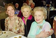 <p>Moore, Cloris Leachman, and Betty White at the 2nd Annual TV Land Awards.</p>