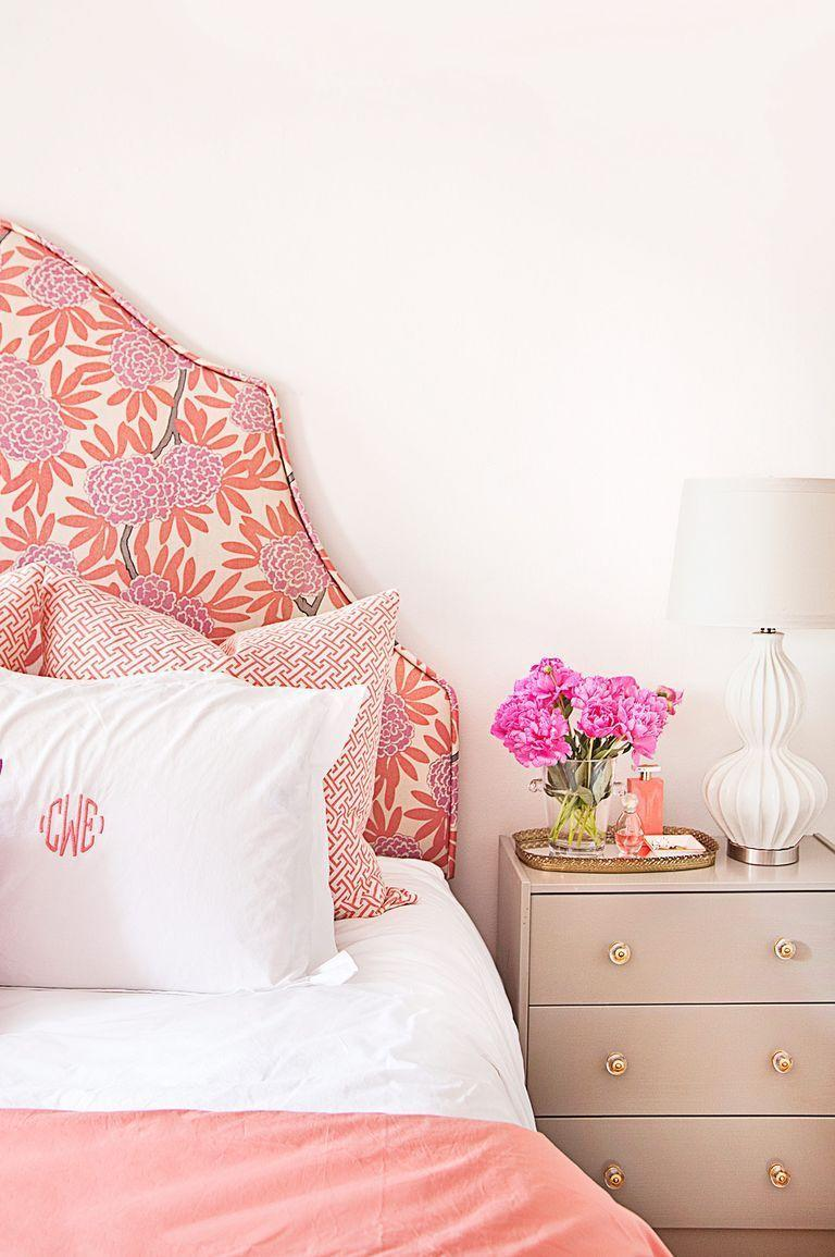 <p>Introduce a dose of pattern (a floral headboard is the perfect option) for a polished-looking master bedroom. </p>